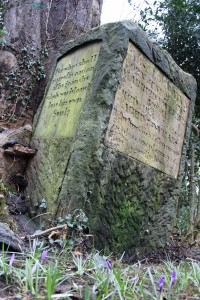 Stone plinth dedicated to Absalom